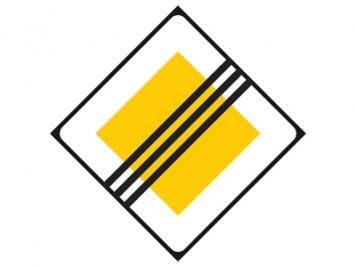 RVV Verkeersbord B02  (einde voorrangsweg)