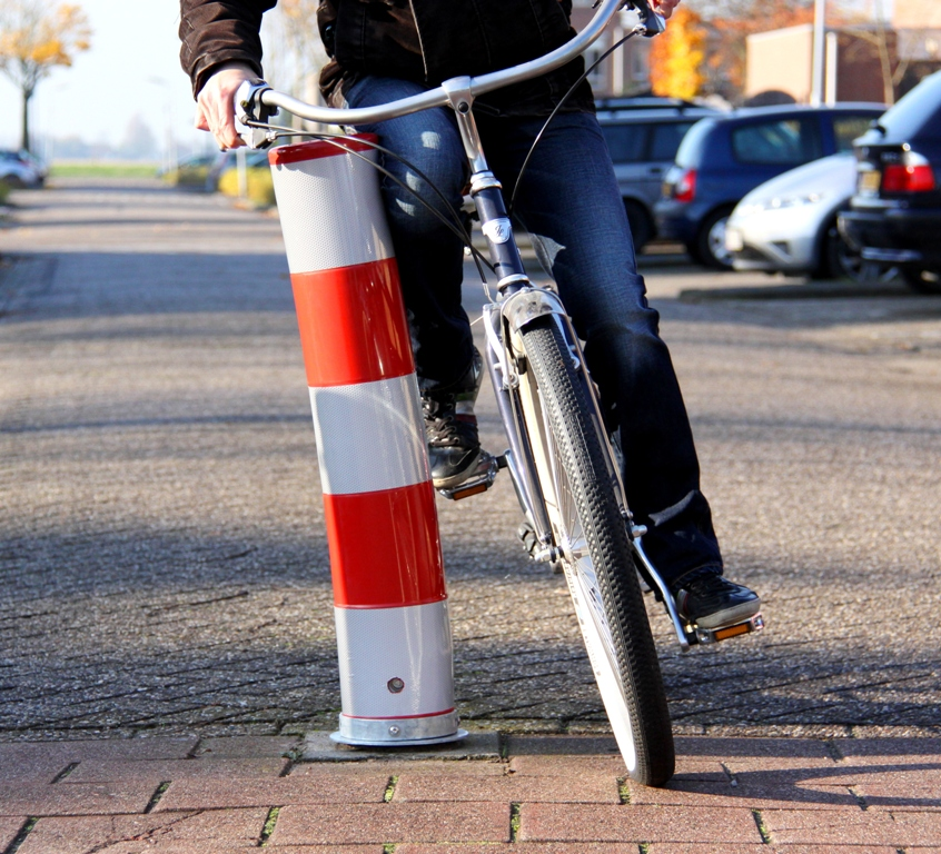 Uitneembare fietspadpaal - FietsFlex Flexpost