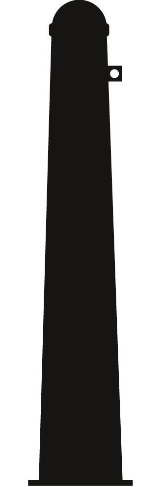 Uitneembare afzetpaal model 120 conisch