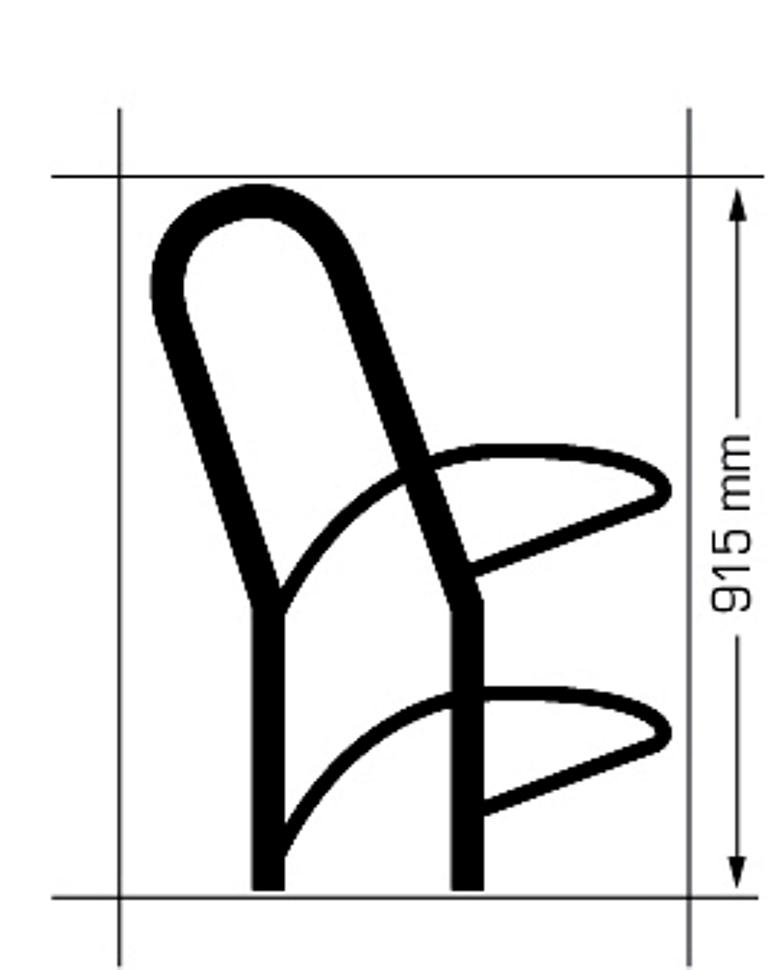 Fietsenrek model 75FP (FietsParkeur)