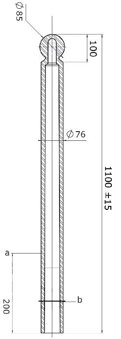 Flexibele kunststof afzetpaal model 76 Kogelkop
