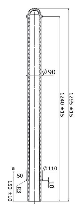 Flexibele kunststof afzetpaal model 90R