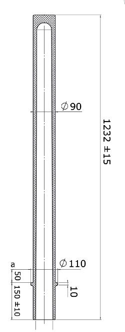 Flexibele kunststof afzetpaal model 90