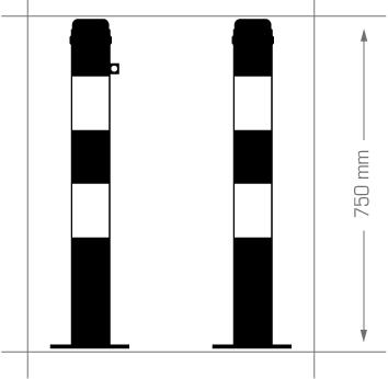 Flexibele kunststof afzetpaal model 76
