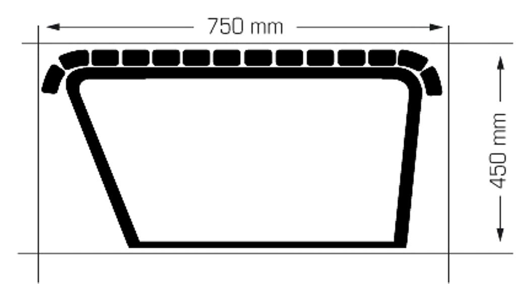 Buiten Zitbank model Canapé ZR (zonder rugleuning)