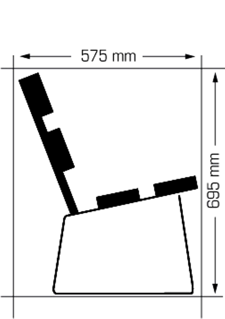 Buiten Zitbank Parkbank model E4