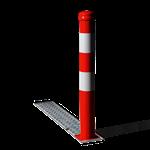 Afzetpaal - Verzonken klappaal model 90