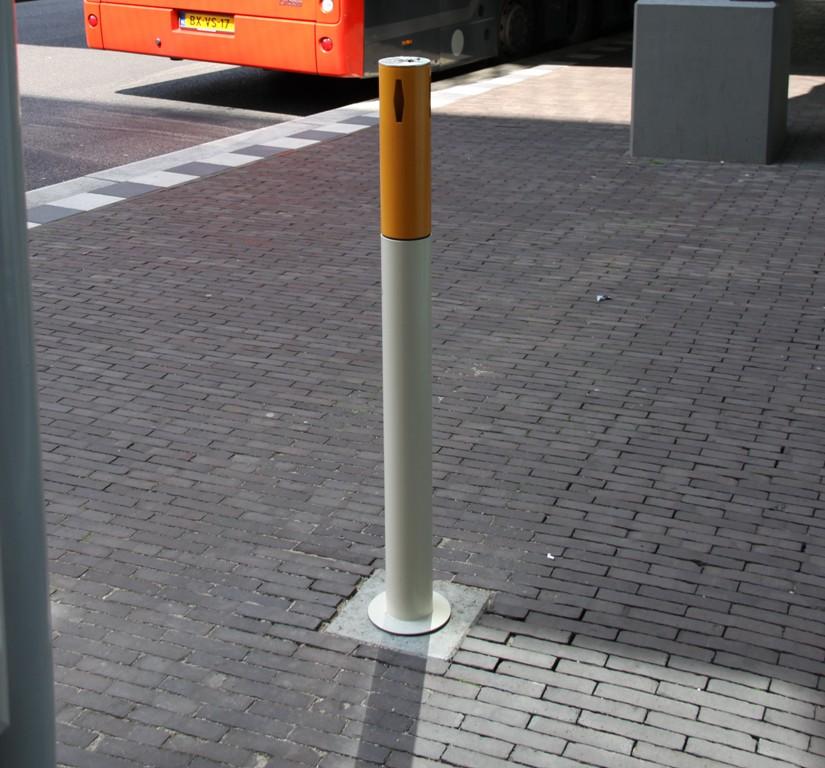 Rokers afvalbak - Peukenpaal model Pafpaal (vast & wegneembaar)