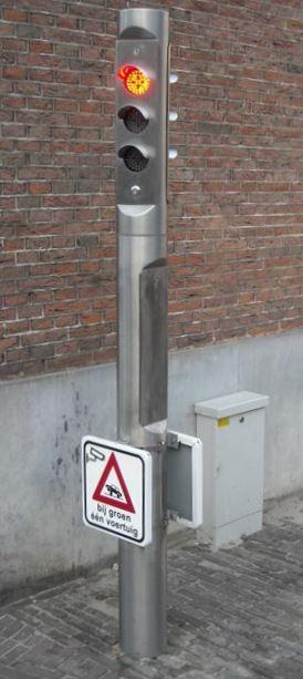Regellicht - Verkeerslicht model 160 RVS (dubbelzijdig)