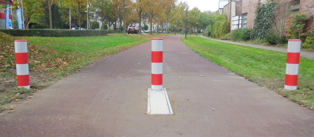 Verzonken fietspadpaal - FietsFlex Flexpost