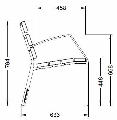 Buiten Zitbank model Modo stoel 10