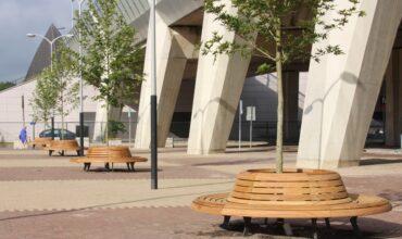 Ronde boombanken station Noord